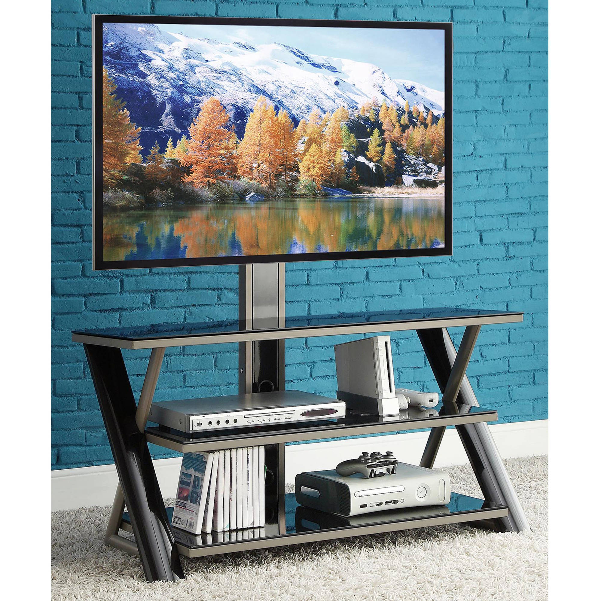Whalen 3 In 1 Flat Panel Tv Stand For Tvs Up To 50 Ebay