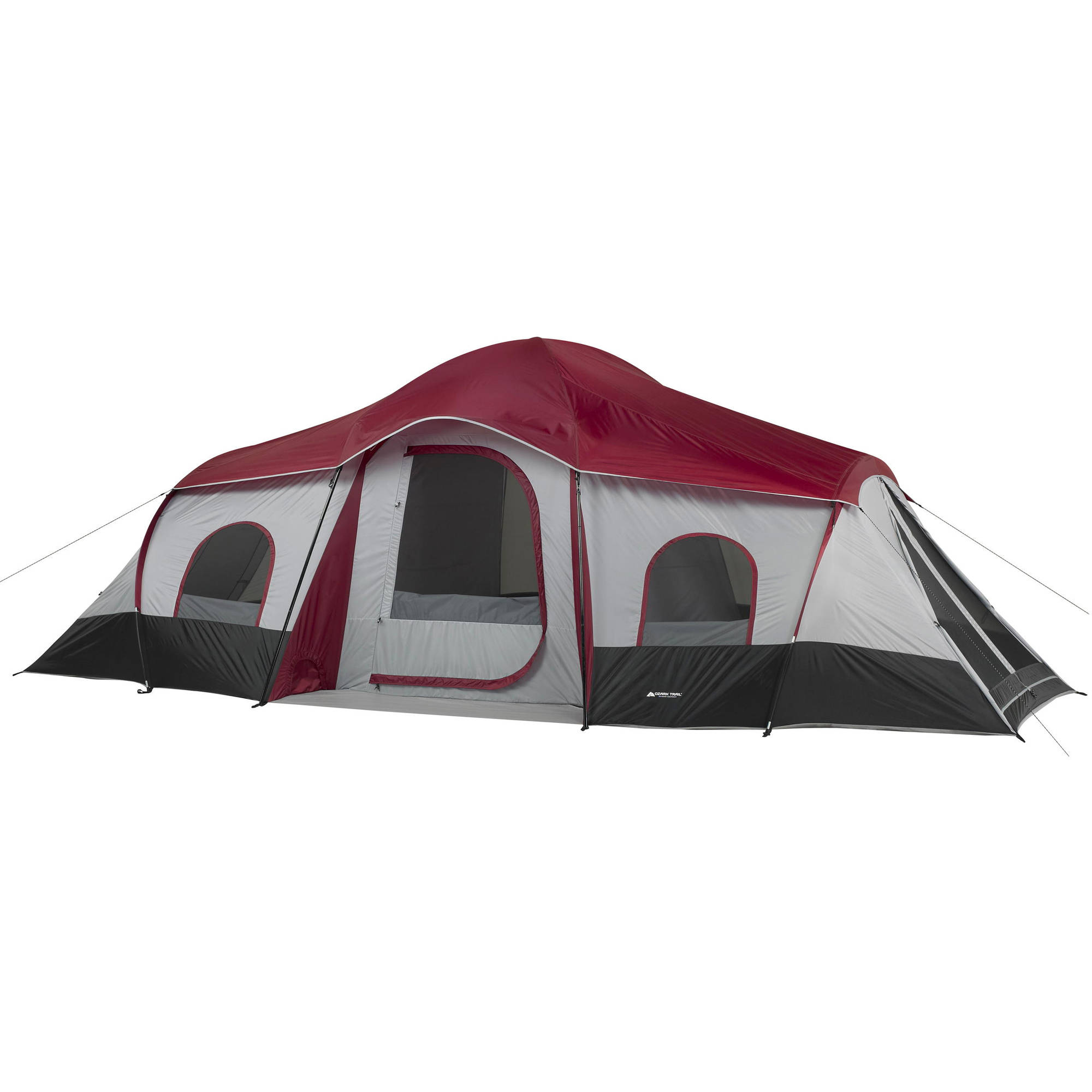 Details about Ozark Trail 10 Person 3-Room Instant Cabin Tent Large Outdoor  Camping Light Easy