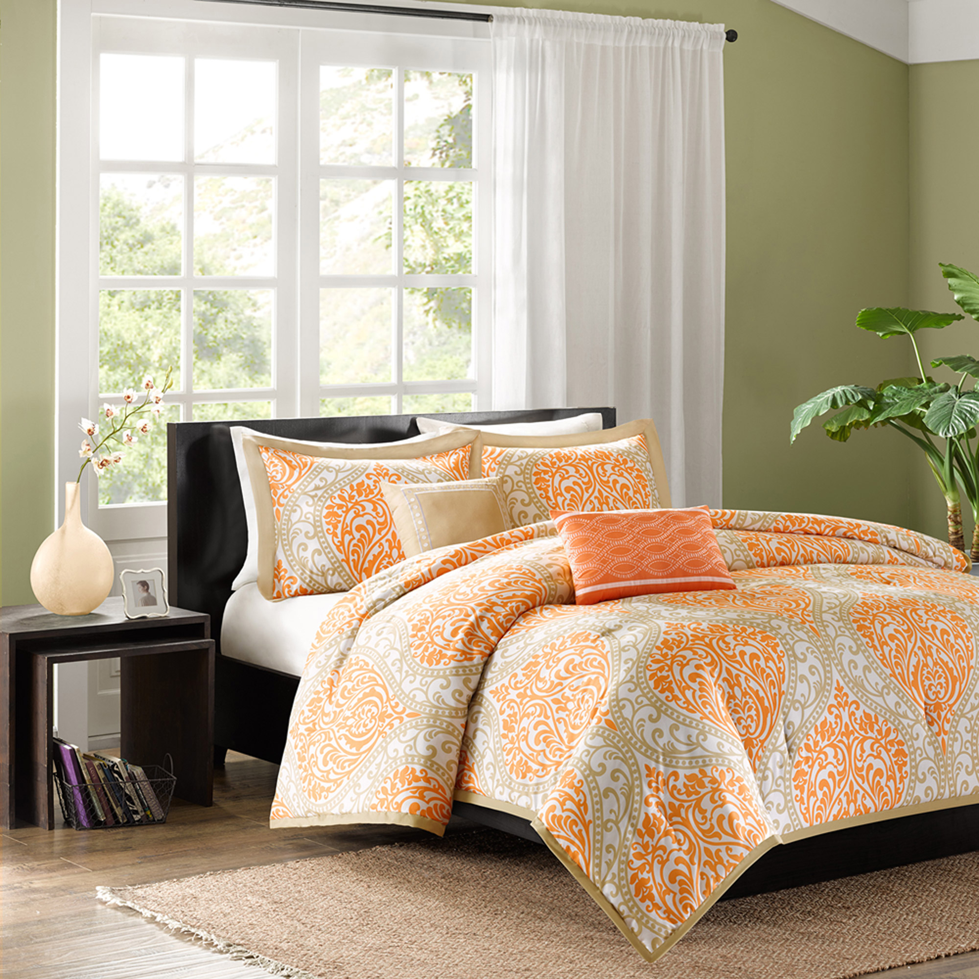 by multi s set queen category curly signature furniture ashley orange design sw bedrooms anjanette comforter