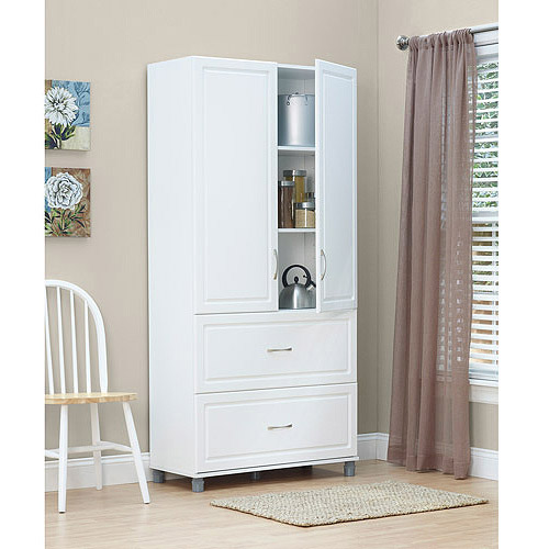 Delightful SystemBuild 2 Drawer / 2 Door Utility Storage Cabinet, White 7364401PCOM