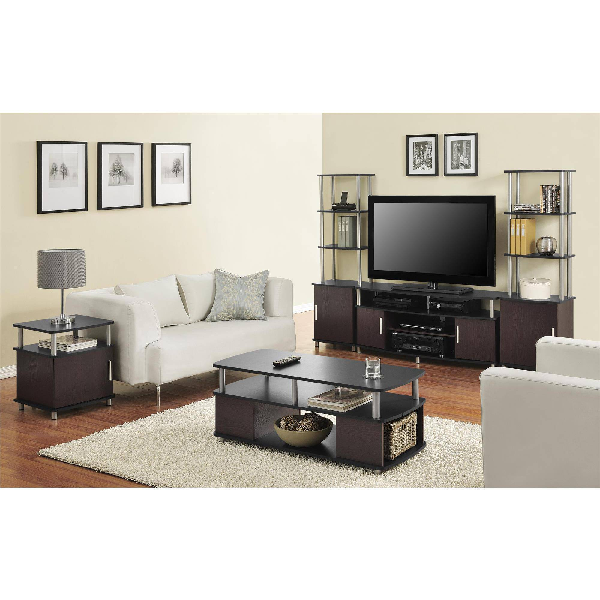 Altra Carson Living Room Furniture Black Cherry Finish Open