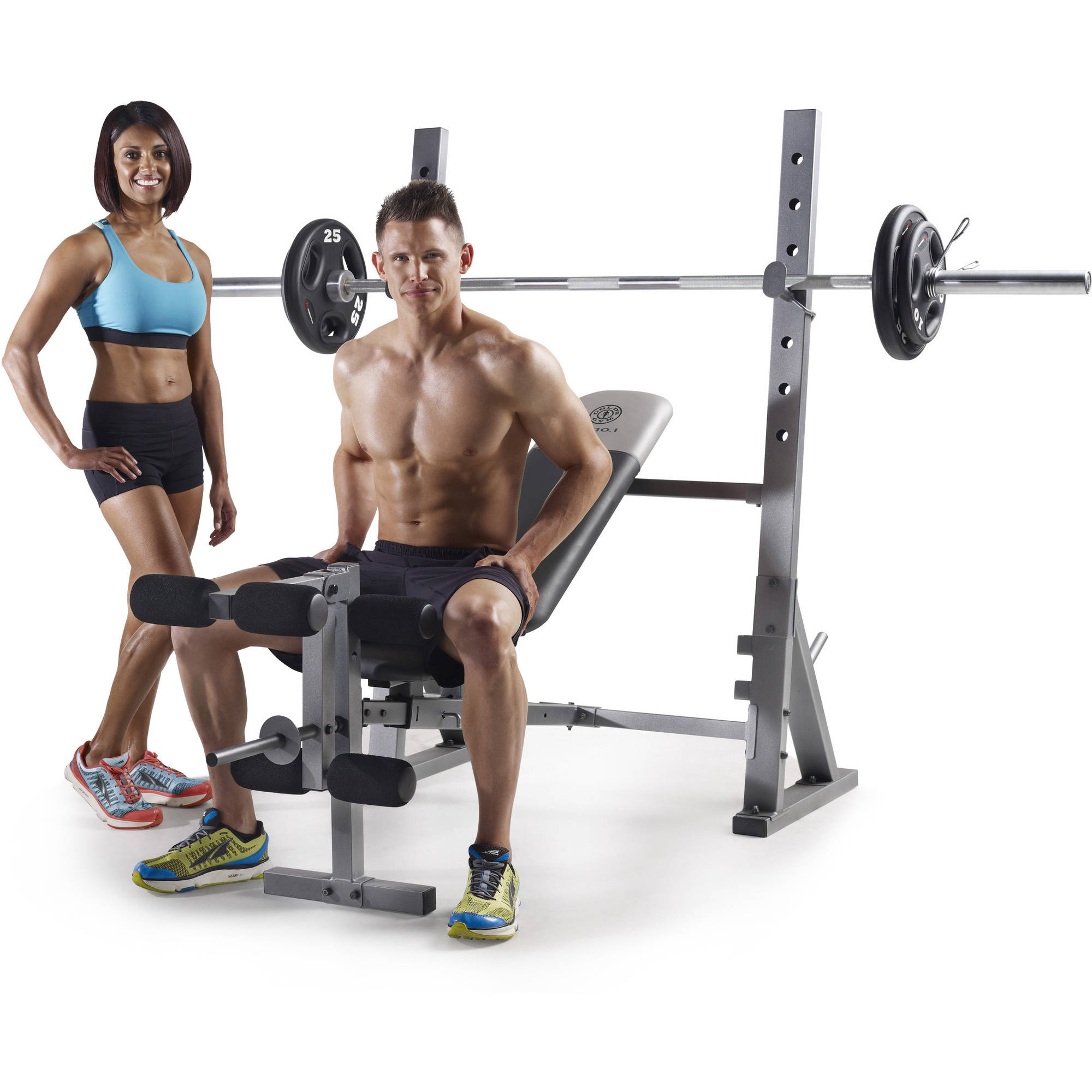 Golds gym xr 10.1 olympic weight bench gym training weight lifting