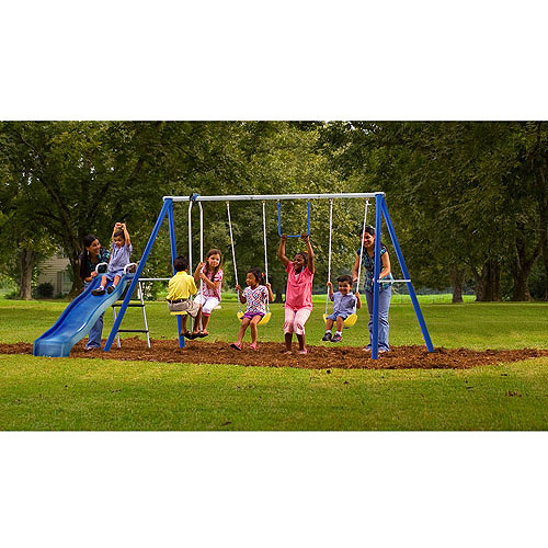 Flexible Flyer Swing Free Metal Swing Set 688948590519 Ebay