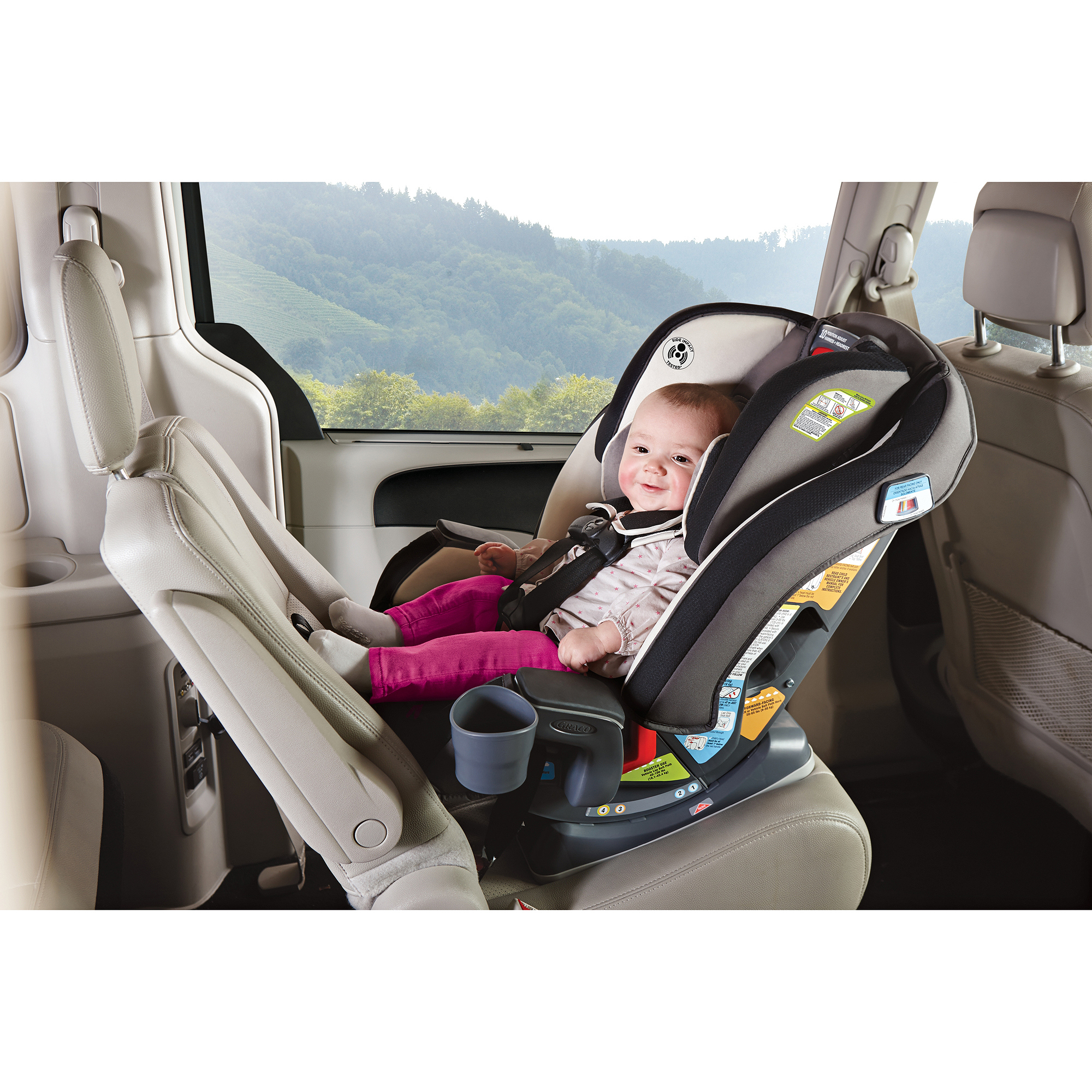 Graco MILESTONE All in 1 Convertible Car Seat Choose Your Pattern | eBay