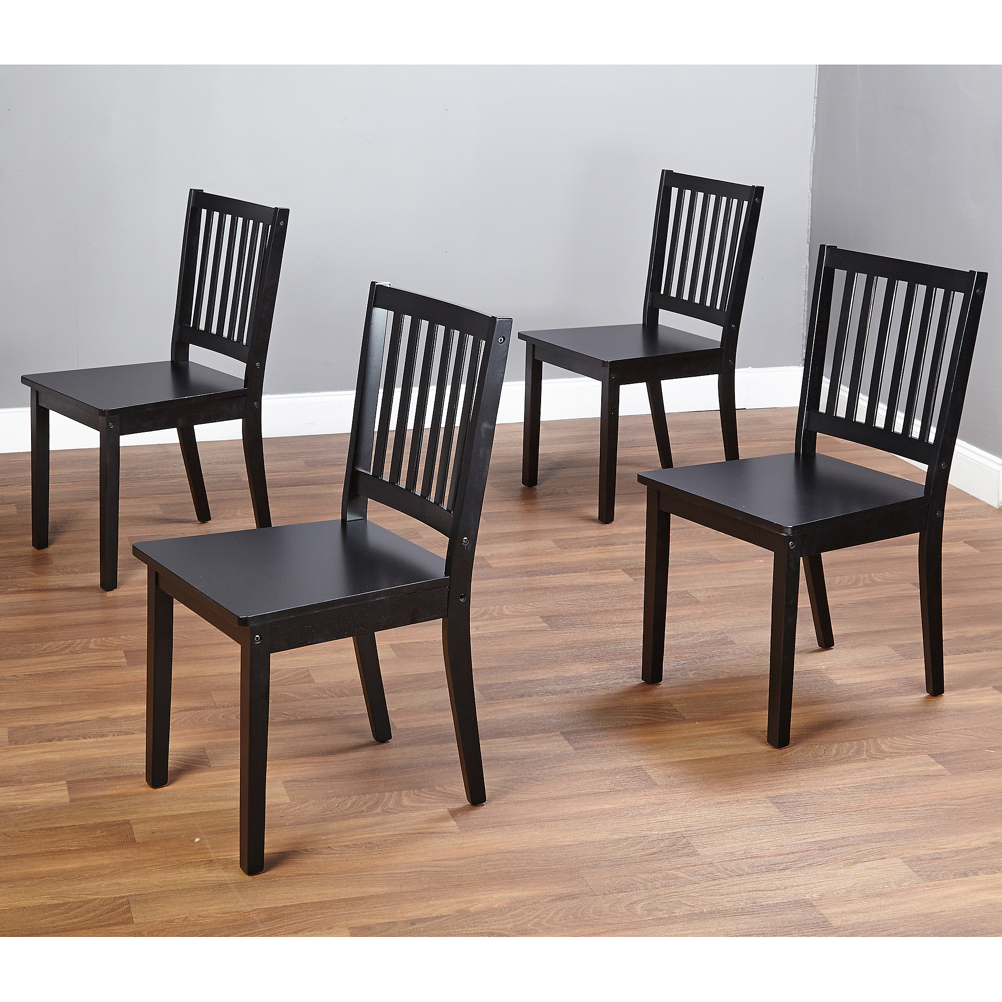 Black Dining Furniture: Shaker Dining Chairs, Set Of 4, Black 24319100190
