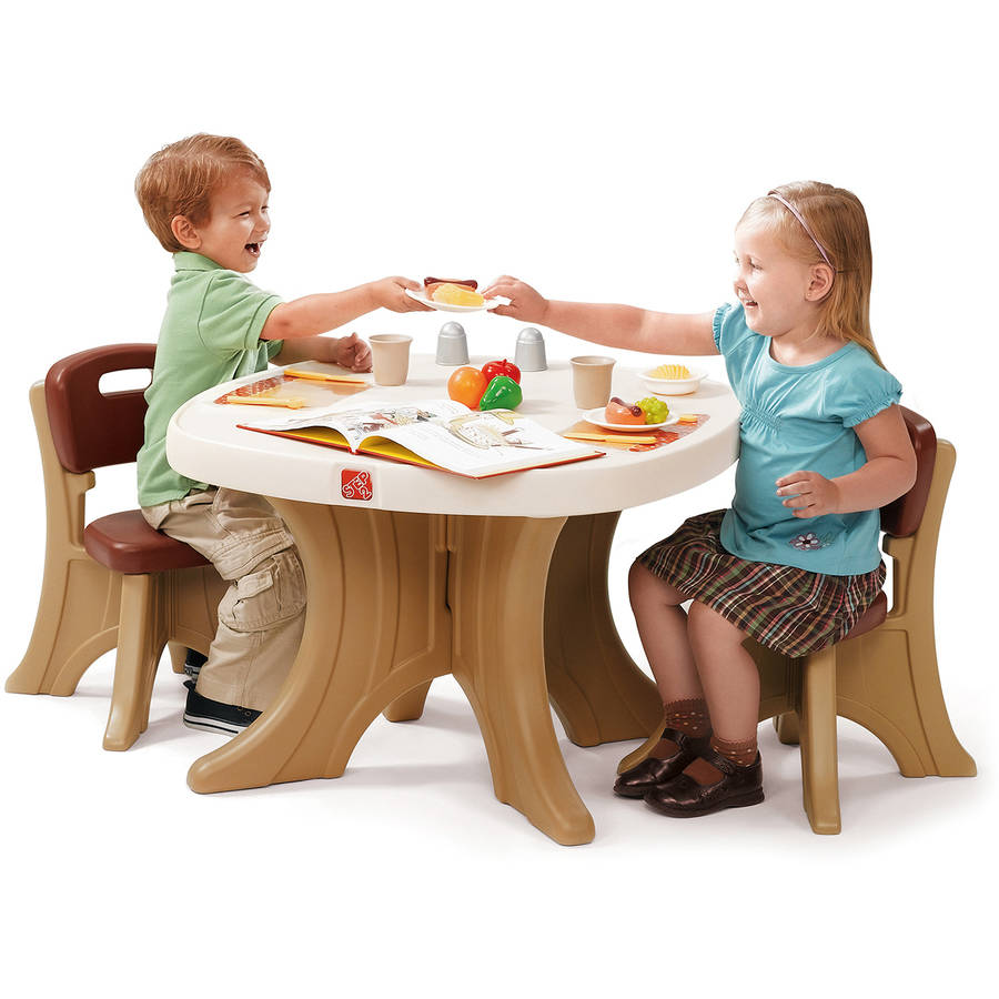 Details About New Step2 Kids Table And 2 Chairs Set Furniture Activity Play Easy Clean Surface