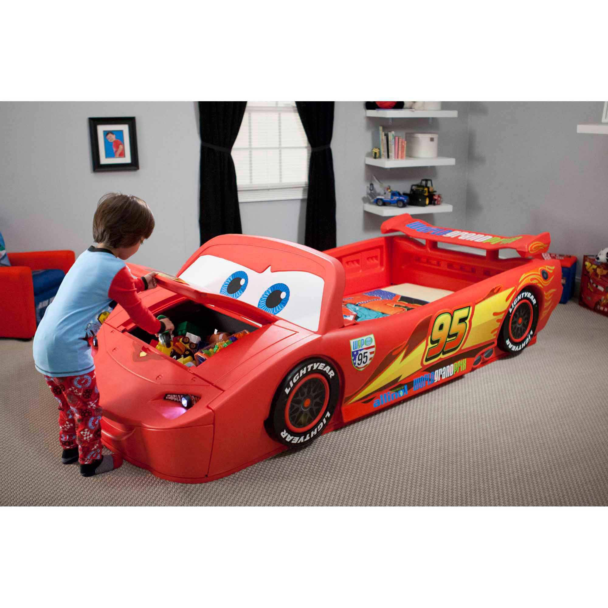 Delta Children Disney Cars Convertible Toddler To Twin Bed With
