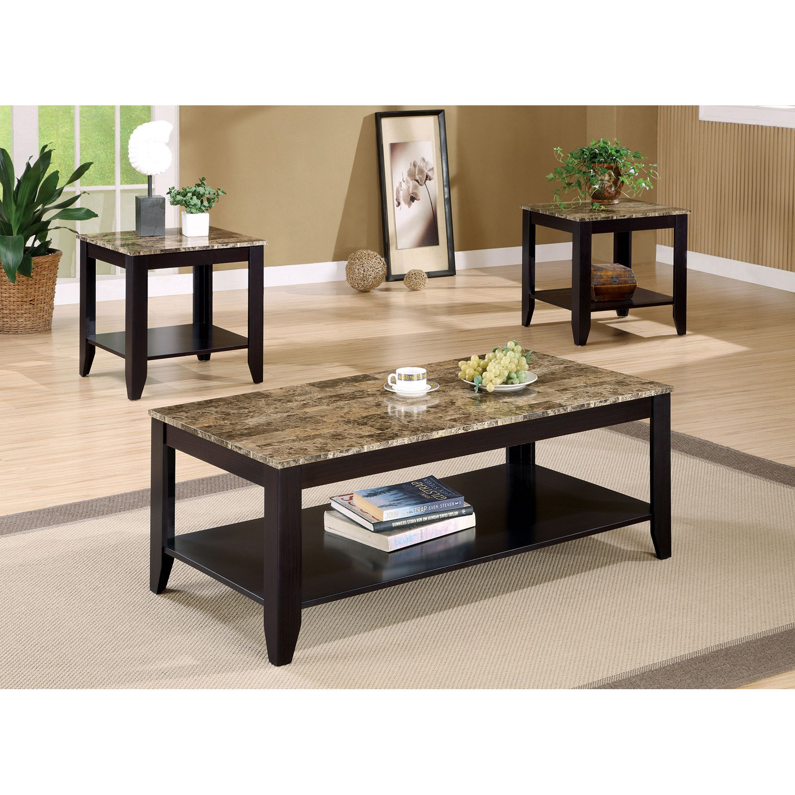 Charmant Coaster Furniture 3 Piece Coffee Table Set With Faux Marble Top | EBay