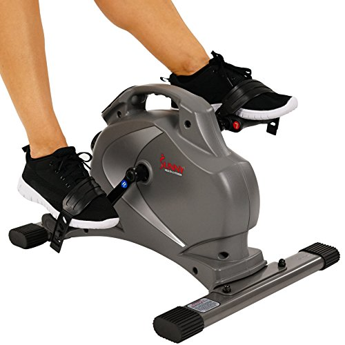 Attrayant Details About Sunny Health U0026 Fitness Mini EXERCISE BIKE,Portable Magnetic  STATIONARY BIKE Gray