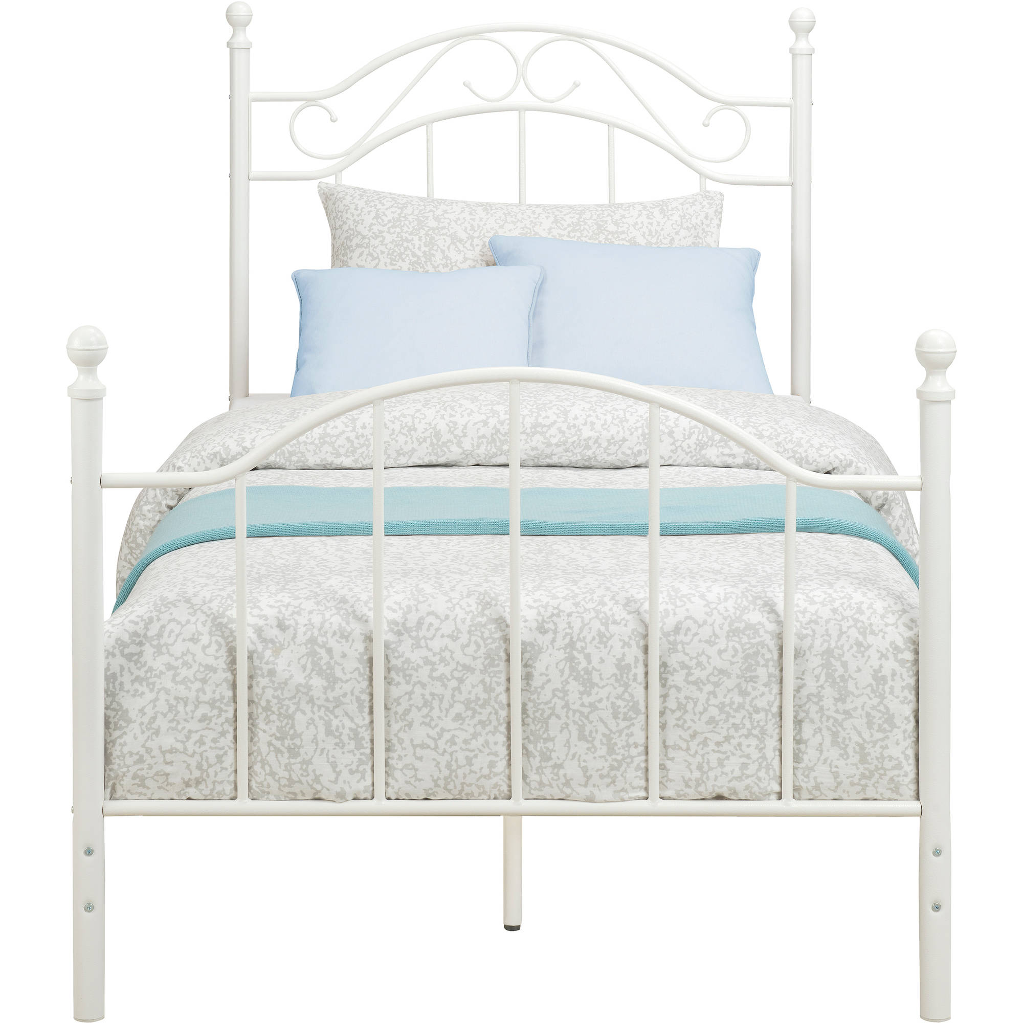 Twin Metal Bed Daybeds Frame Footboard Headboard Girls