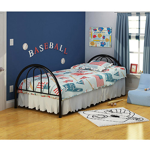 Metal Twin Size Platform Bed Frame With Headboard Footboard Kids