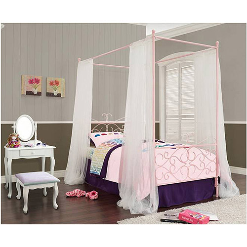 Canopy Wrought Iron Princess Bed Multiple Colors | eBay