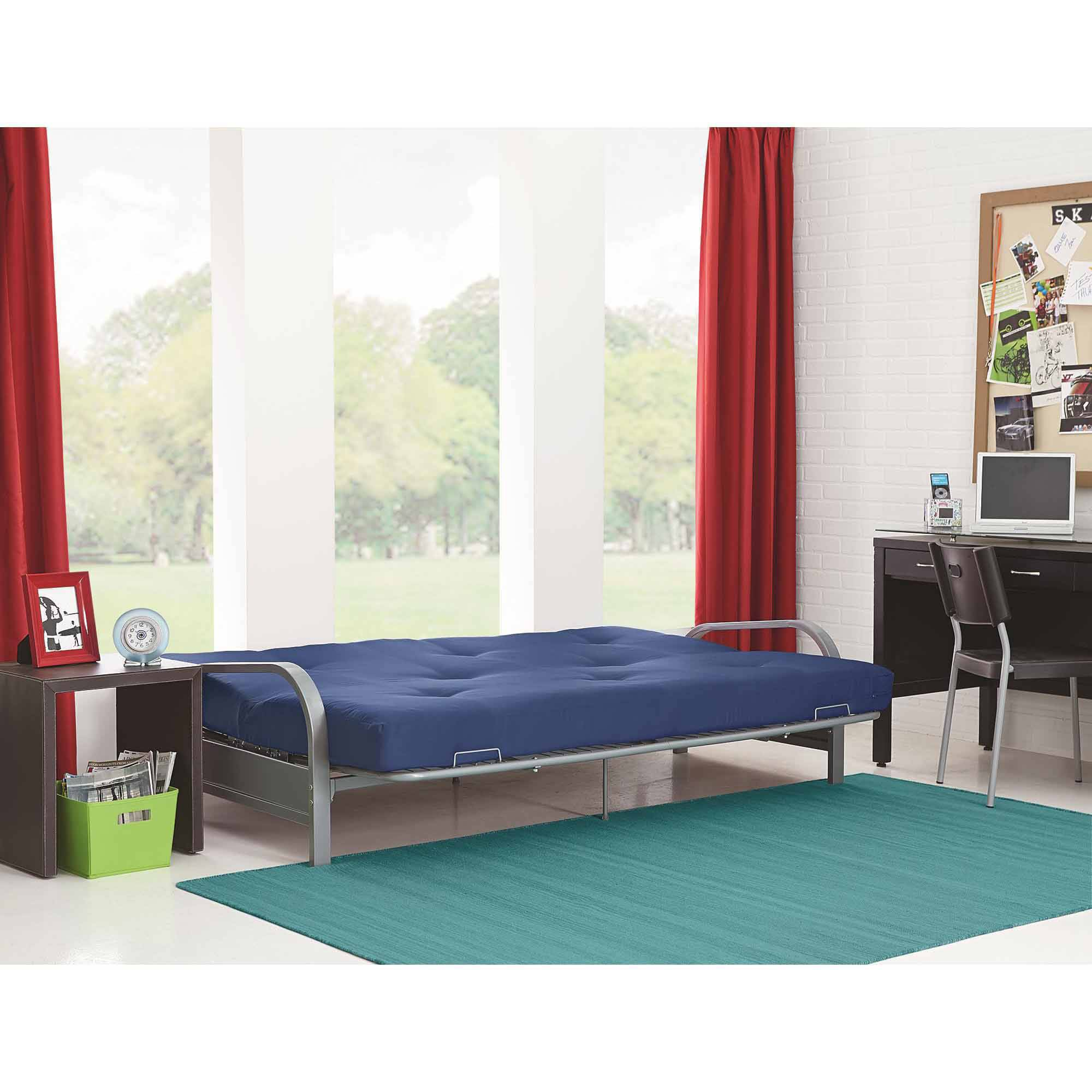 Full Size Futon With Mattress Frame Bed Couch Dorm