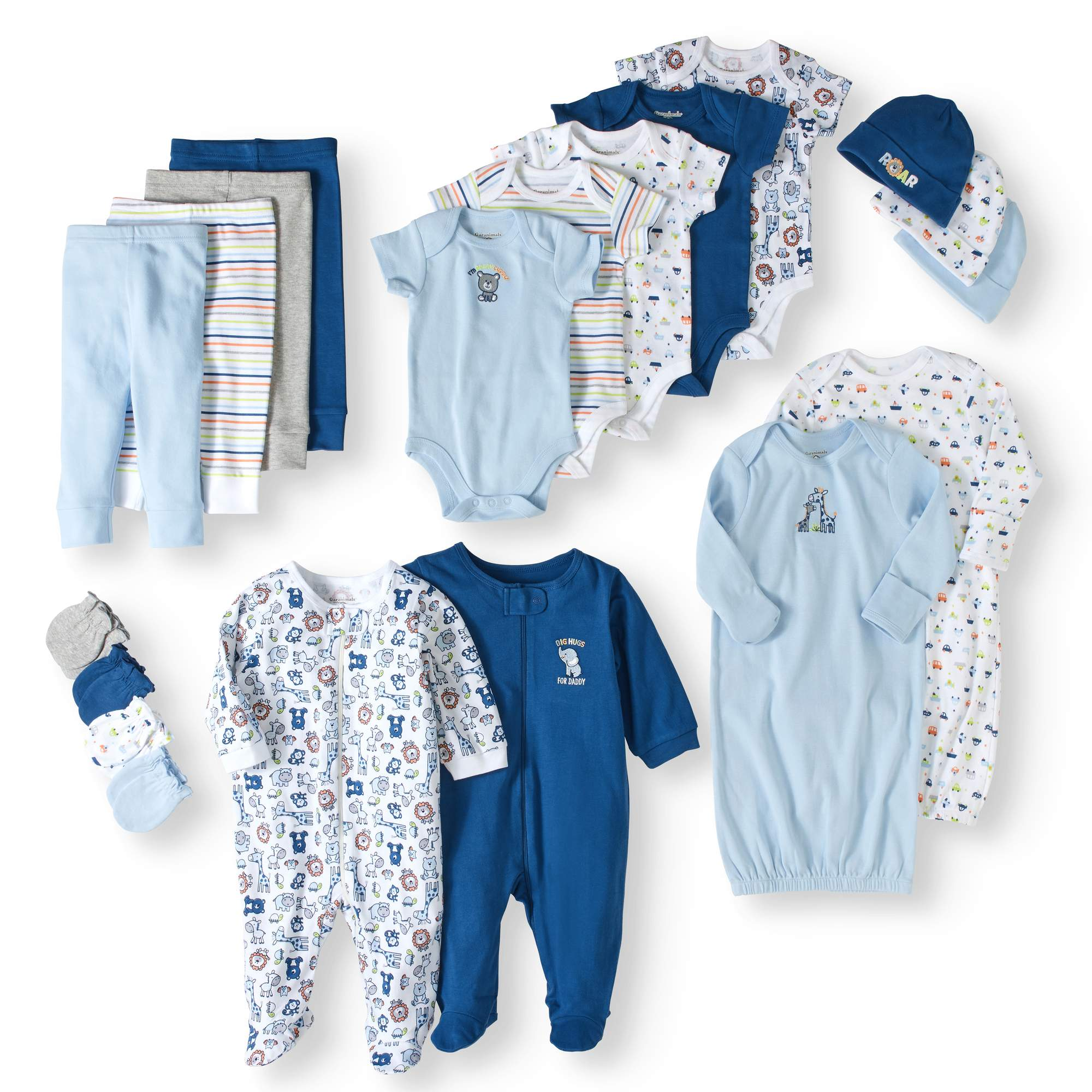 f505722eb9f21 Details about Garanimals Newborn Baby Boy 20 Piece Layette Baby Shower Gift  Set