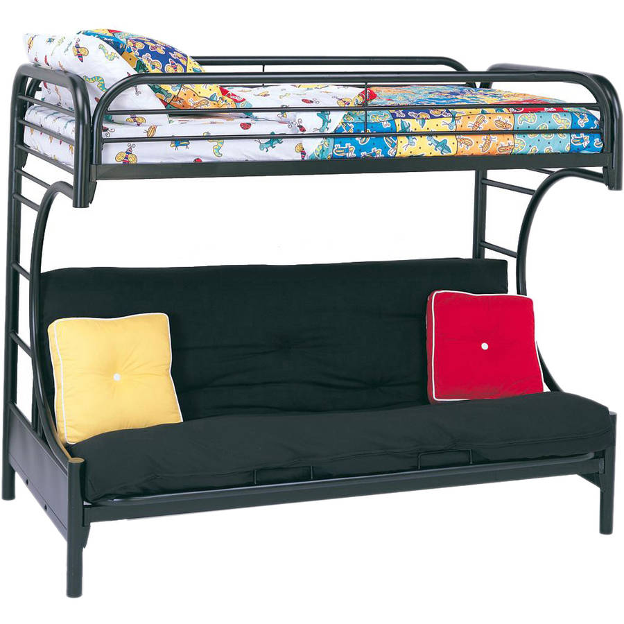 acme eclipse 02091w twin over metal bunk bed - black | ebay