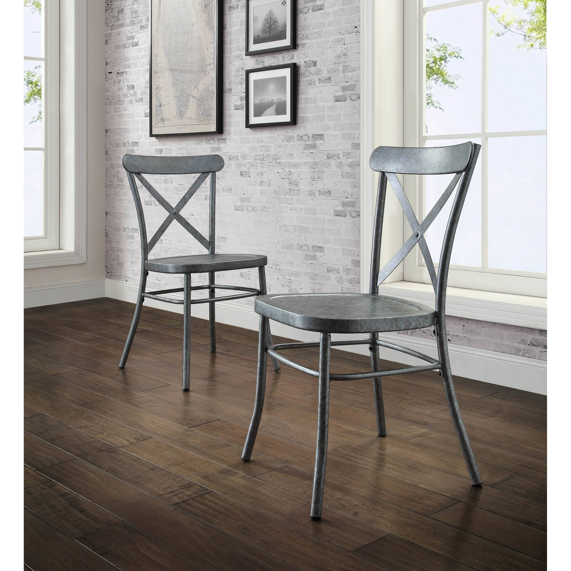 Better Homes And Gardens Collin Silver Dining Chair, 2 Pack