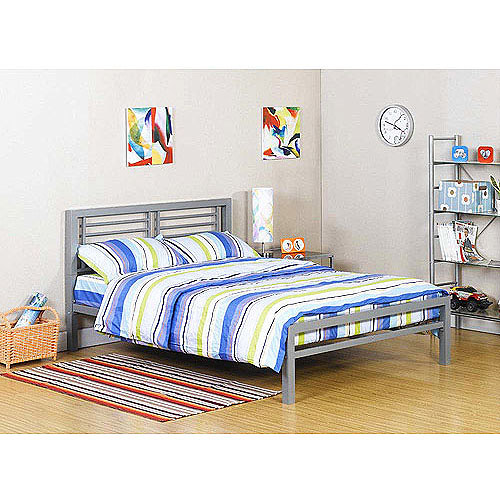 Your Zone Metal Platform Bed Frame with Headboard Footboard Full NEW ...