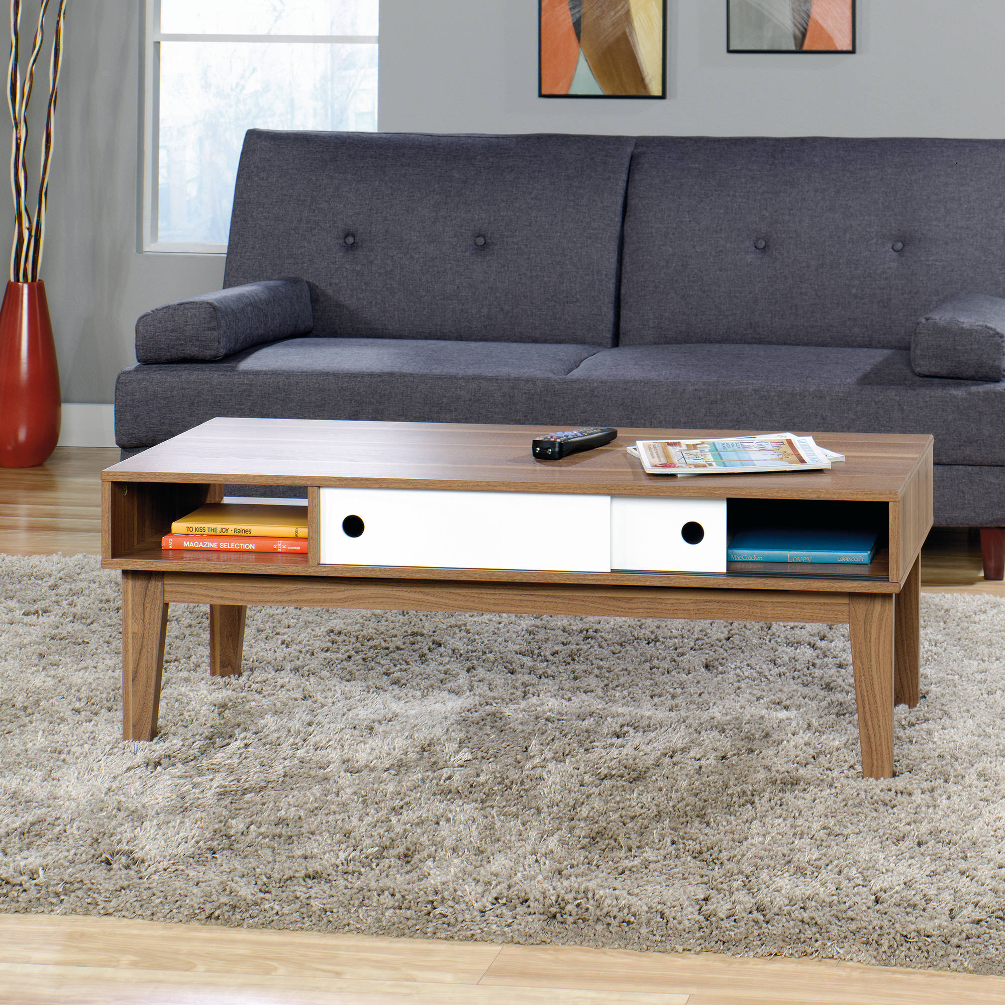 Click Thumbnail To Enlarge Sauder Inspired Coffee Table Decorative Walnut Finish