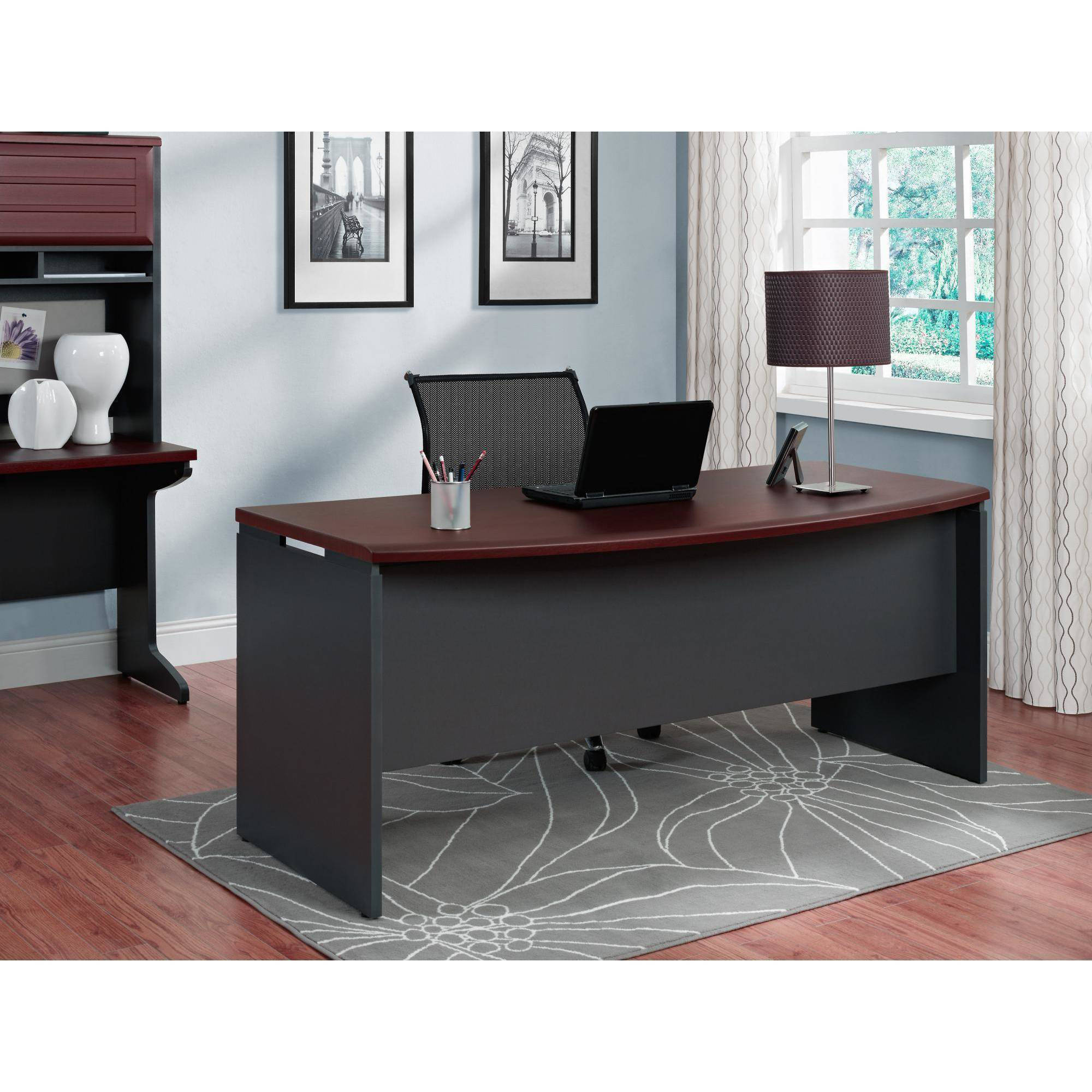 Picture 1 of 6. Computer Desk Home Office Furniture Workstation Table Executive