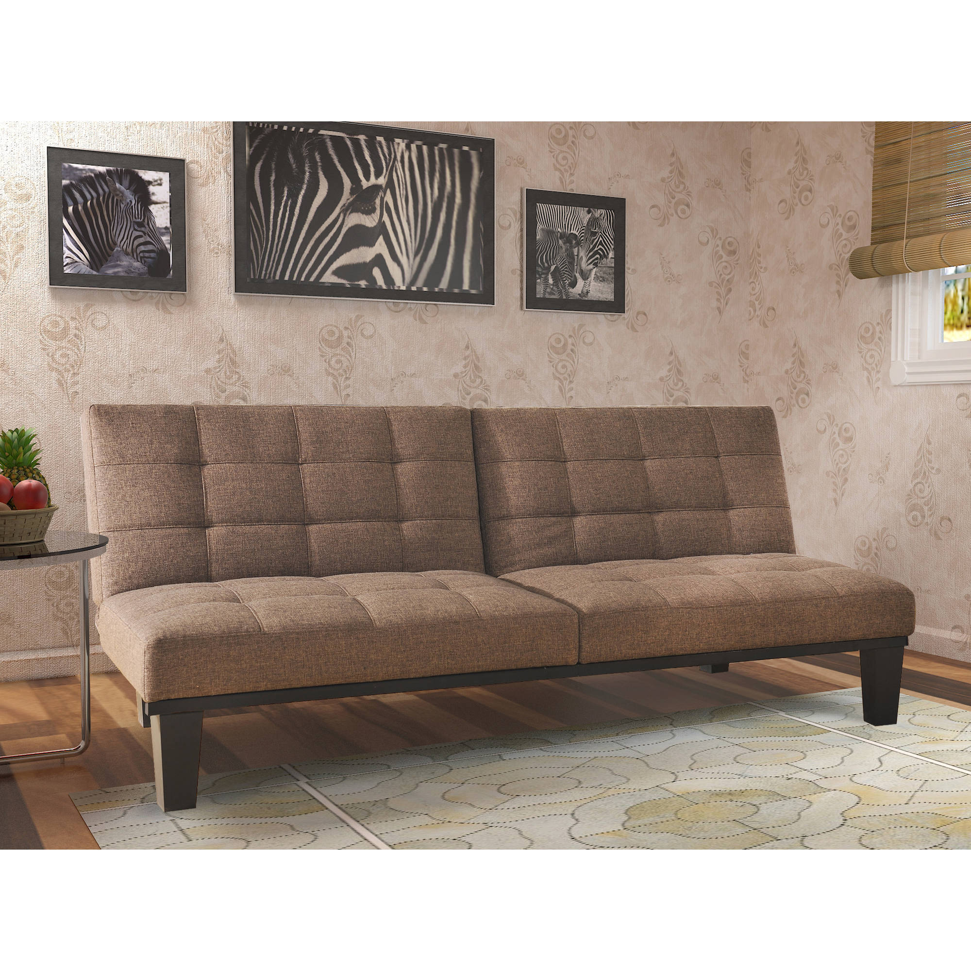 Image Is Loading Tweed Memory Foam Futon Multiple Colors