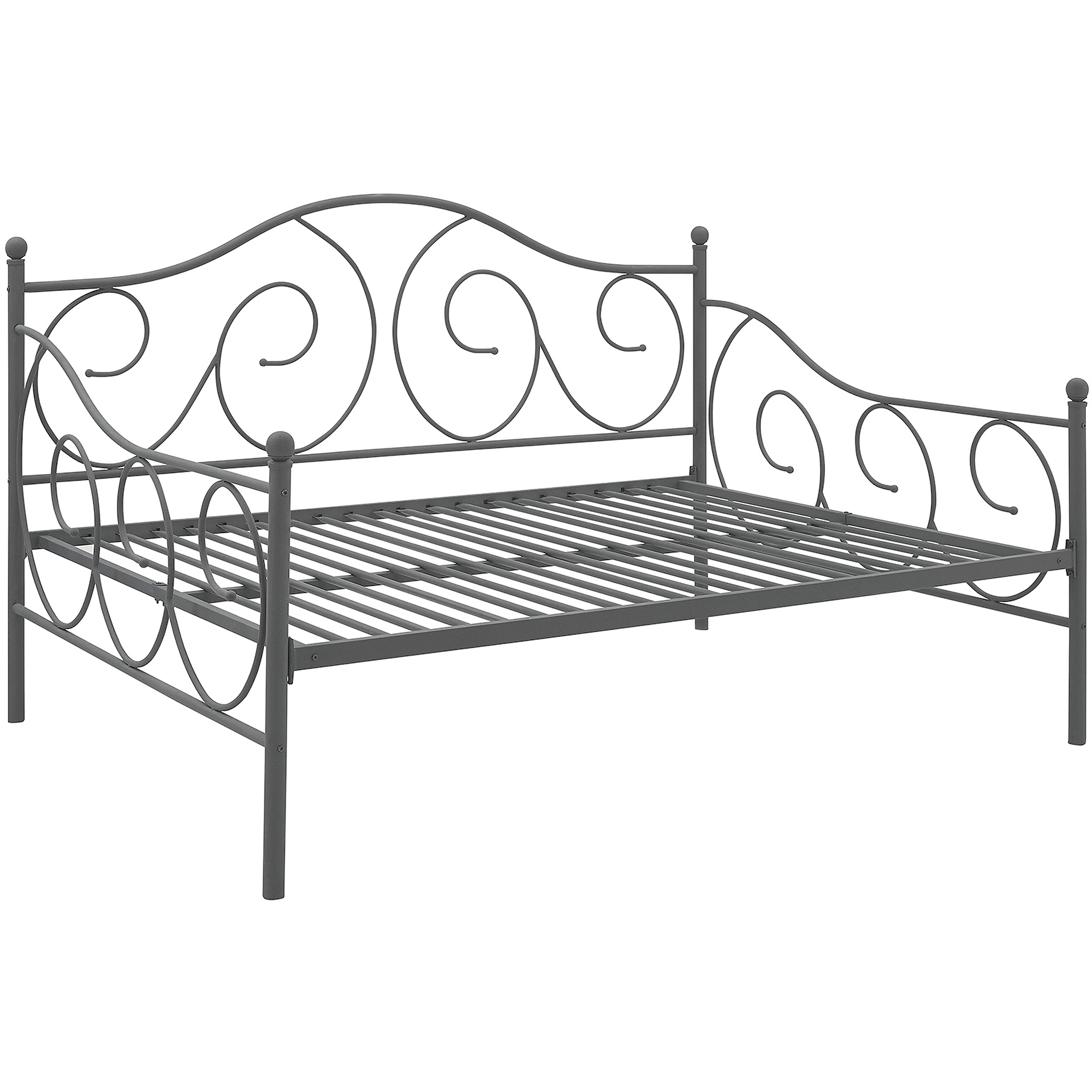 Picture 4 of 8. DHP Victoria Full Size Metal Daybed Pewter  4022939 Bed   eBay