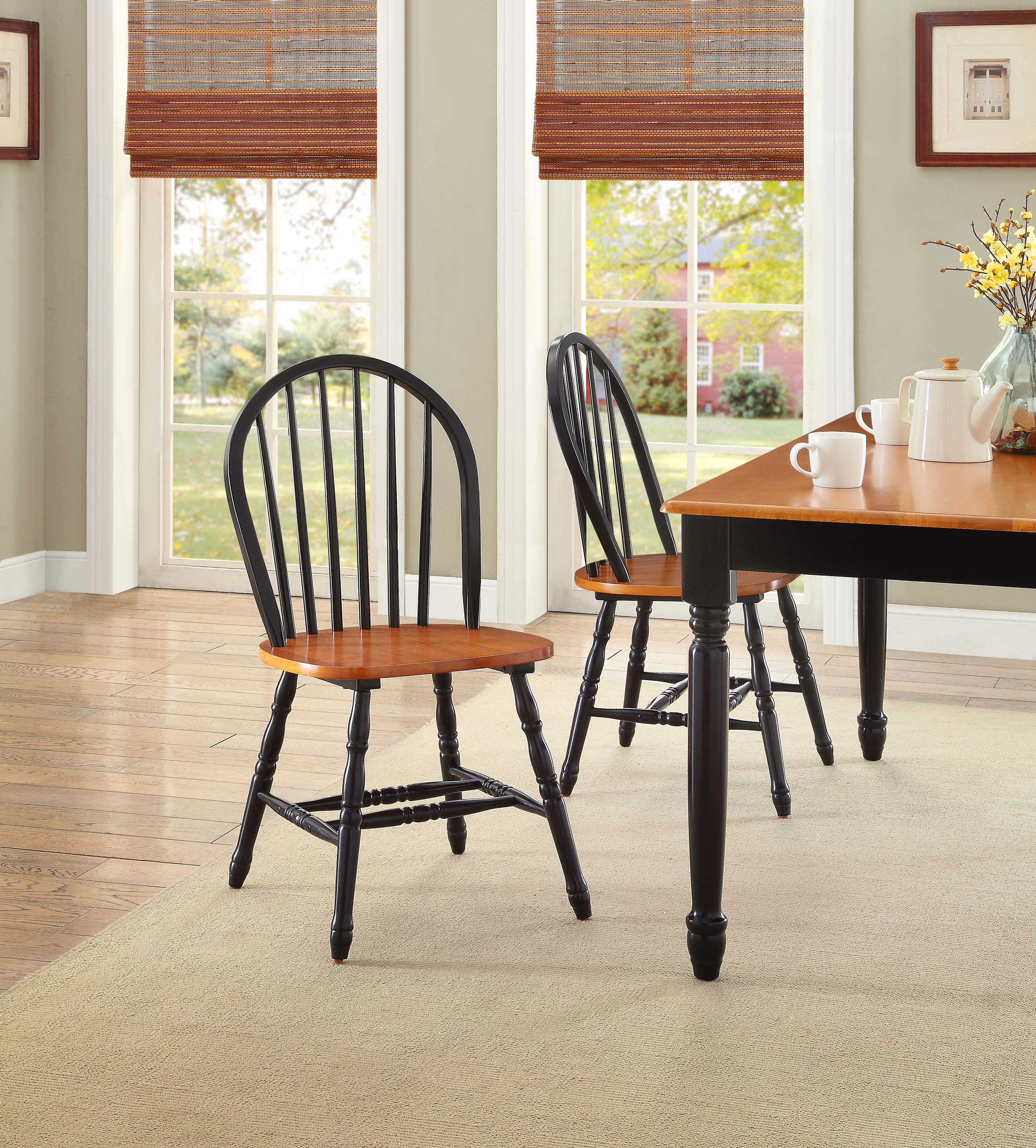 Better Homes And Gardens Autumn Lane Windsor Chairs Set Of 2 Black