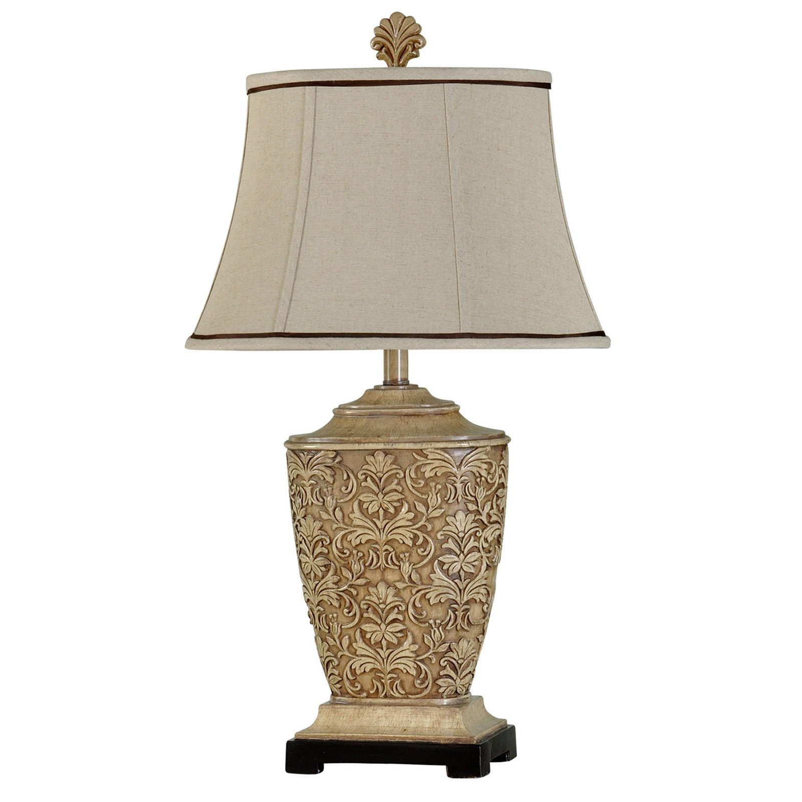 Details About StyleCraft Carved Table Lamp