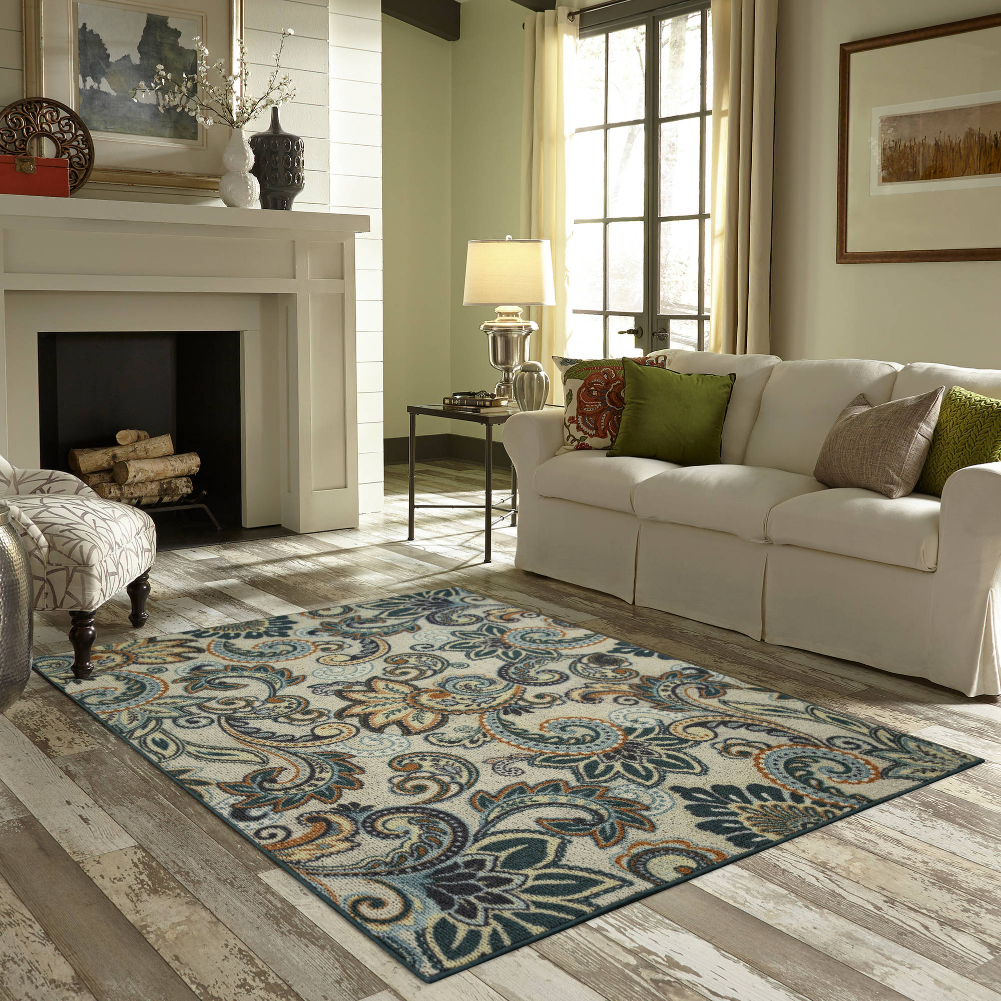 better homes and gardens rugs better homes and gardens paisley berber printed area rug 29228