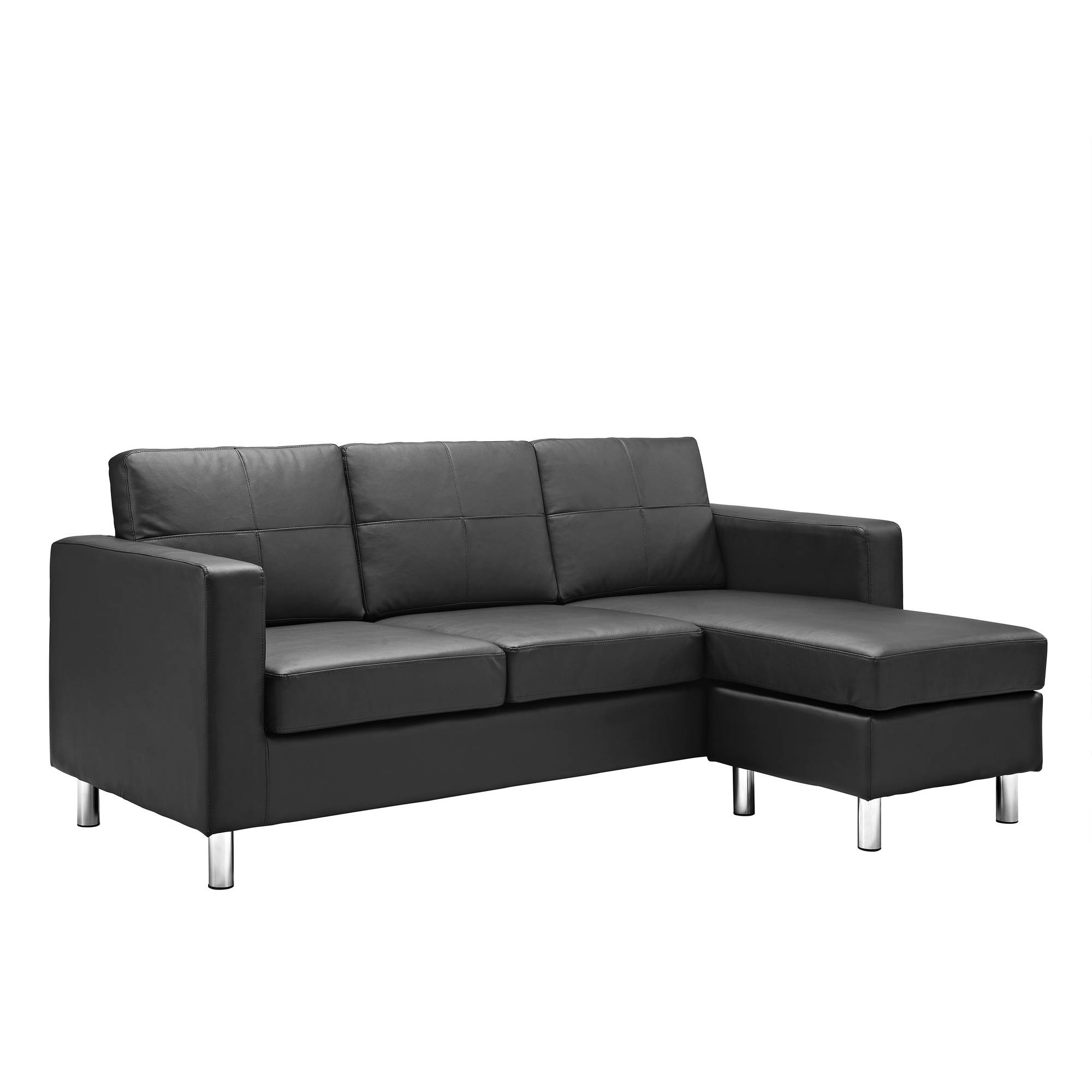 Small Spaces Configurable Sectional Sofa Black Couch